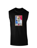 Adopt Cute Puppy Poster Dark Muscle Shirt