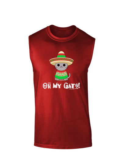 Oh My Gato - Cinco De Mayo Dark Muscle Shirt