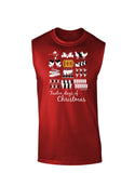 12 Days of Christmas Text Color Dark Muscle Shirt
