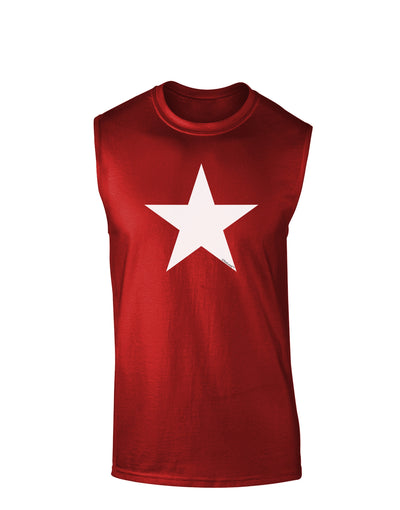 White Star Dark Muscle Shirt - Red - 2XL Tooloud