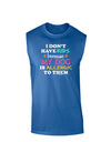 I Don't Have Kids - Dog Dark Muscle Shirt