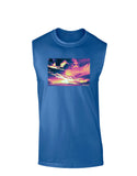 Blue Mesa Reservoir Surreal Dark Muscle Shirt