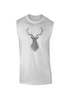 Majestic Stag Distressed Muscle Shirt