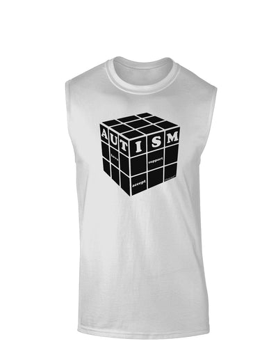 Autism Awareness - Cube B & W Muscle Shirt