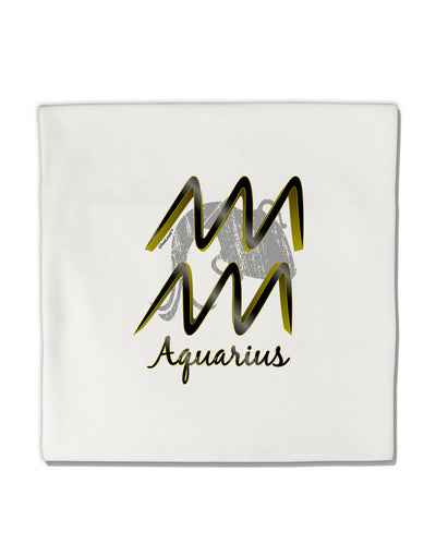 "Aquarius Symbol Micro Fleece 14""x14"" Pillow Sham"