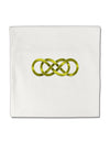 "Double Infinity Gold Micro Fleece 14""x14"" Pillow Sham"