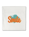 TooLoud Smile Micro Fleece 14 Inch x 14 Inch Pillow Sham