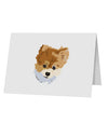 "Custom Pet Art 10 Pack of 5x7"" Top Fold Blank Greeting Cards by TooLoud"