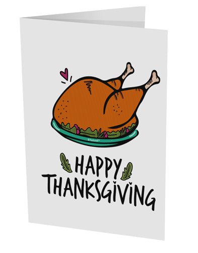 TooLoud Happy Thanksgiving 10 Pack of 5x7 Inch Side Fold Blank Greetin