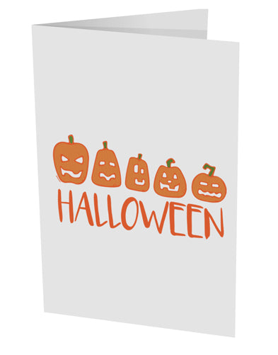 TooLoud Halloween Pumpkins 10 Pack of 5x7 Inch Side Fold Blank Greetin
