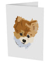 "Custom Pet Art 10 Pack of 5x7"" Side Fold Blank Greeting Cards by TooLoud"