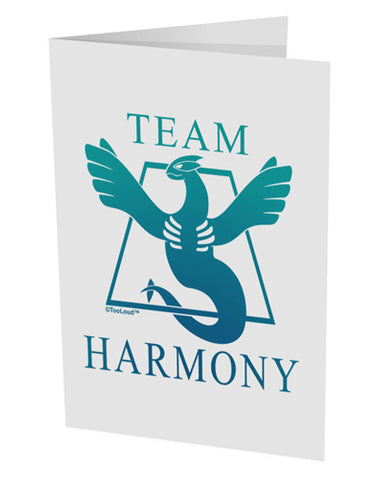 "Team Harmony 10 Pack of 5x7"" Side Fold Blank Greeting Cards"