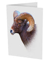 "Majestic Bighorn Ram 10 Pack of 5x7"" Side Fold Blank Greeting Cards"