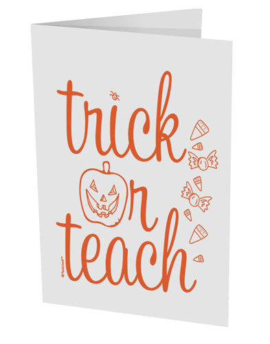 TooLoud Trick or Teach 10 Pack of 5x7 Inch Side Fold Blank Greeting Ca