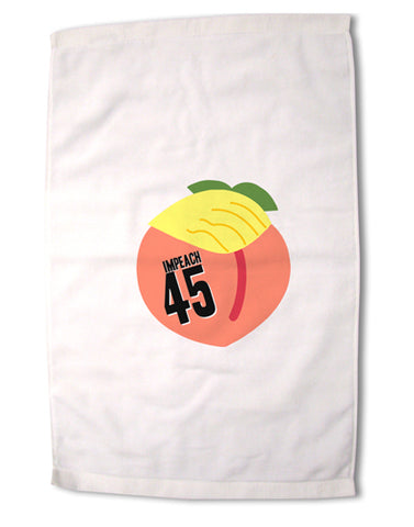"Impeach Peach Trump Premium Cotton Sport Towel 16""x25 by TooLoud"