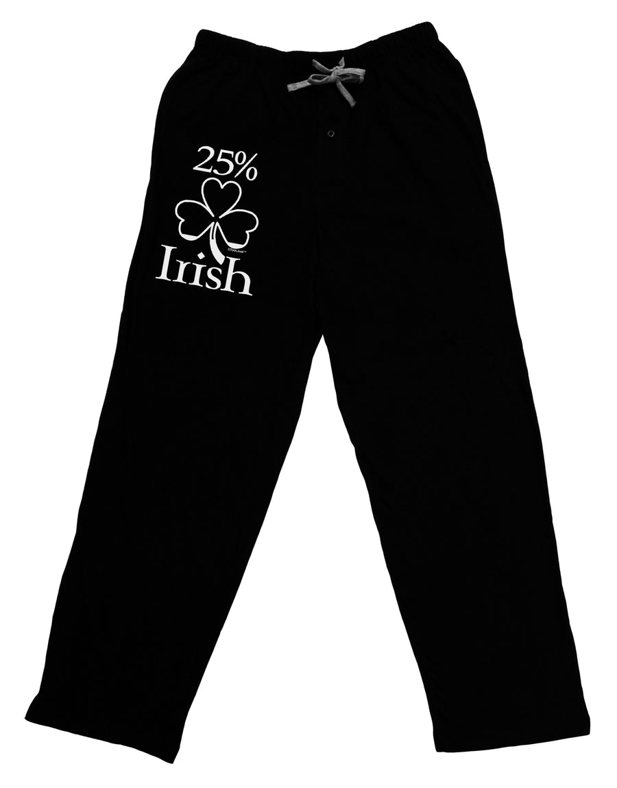 c89a85b0d 25 Percent Irish - St Patricks Day Adult Lounge Pants - Black by TooLoud