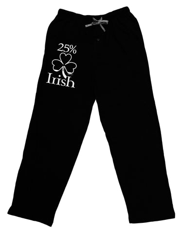 25 Percent Irish - St Patricks Day Adult Lounge Pants - Black by TooLoud