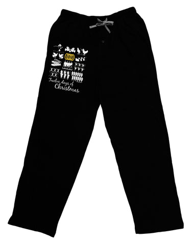 12 Days of Christmas Text Color Adult Lounge Pants