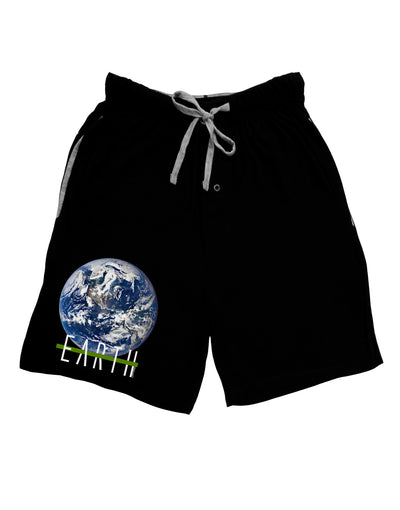 Planet Earth Text Adult Lounge Shorts