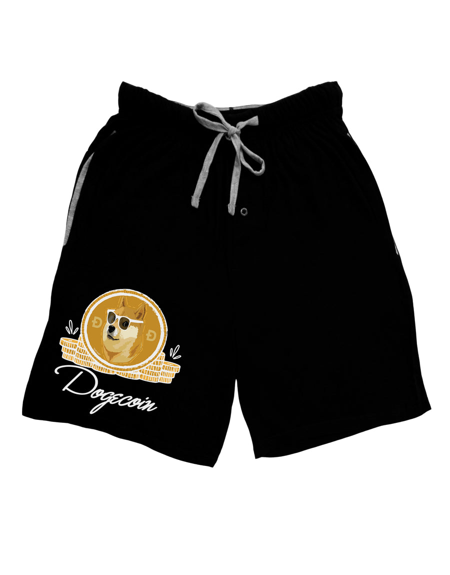 Doge Coins Dark Adult Lounge Shorts Red- 2XL Tooloud