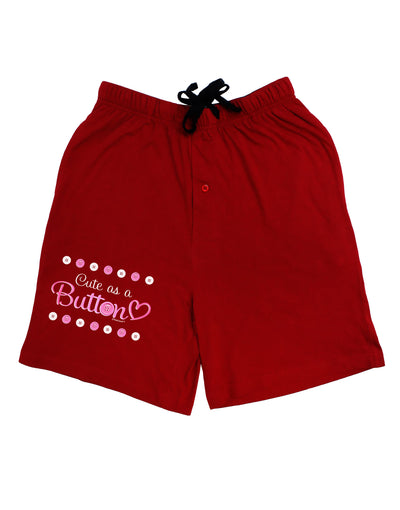 Cute As A Button Adult Lounge Shorts