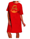 Give Thanks Dark Dark Night Shirt Dress Red One Size Tooloud