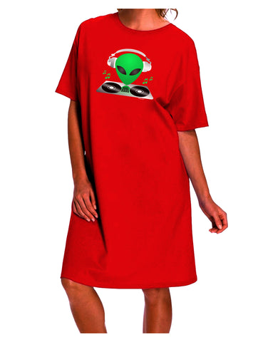 Alien DJ Dark Adult Night Shirt Dress