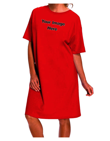 Your Own Image Customized Picture Dark Adult Night Shirt Dress