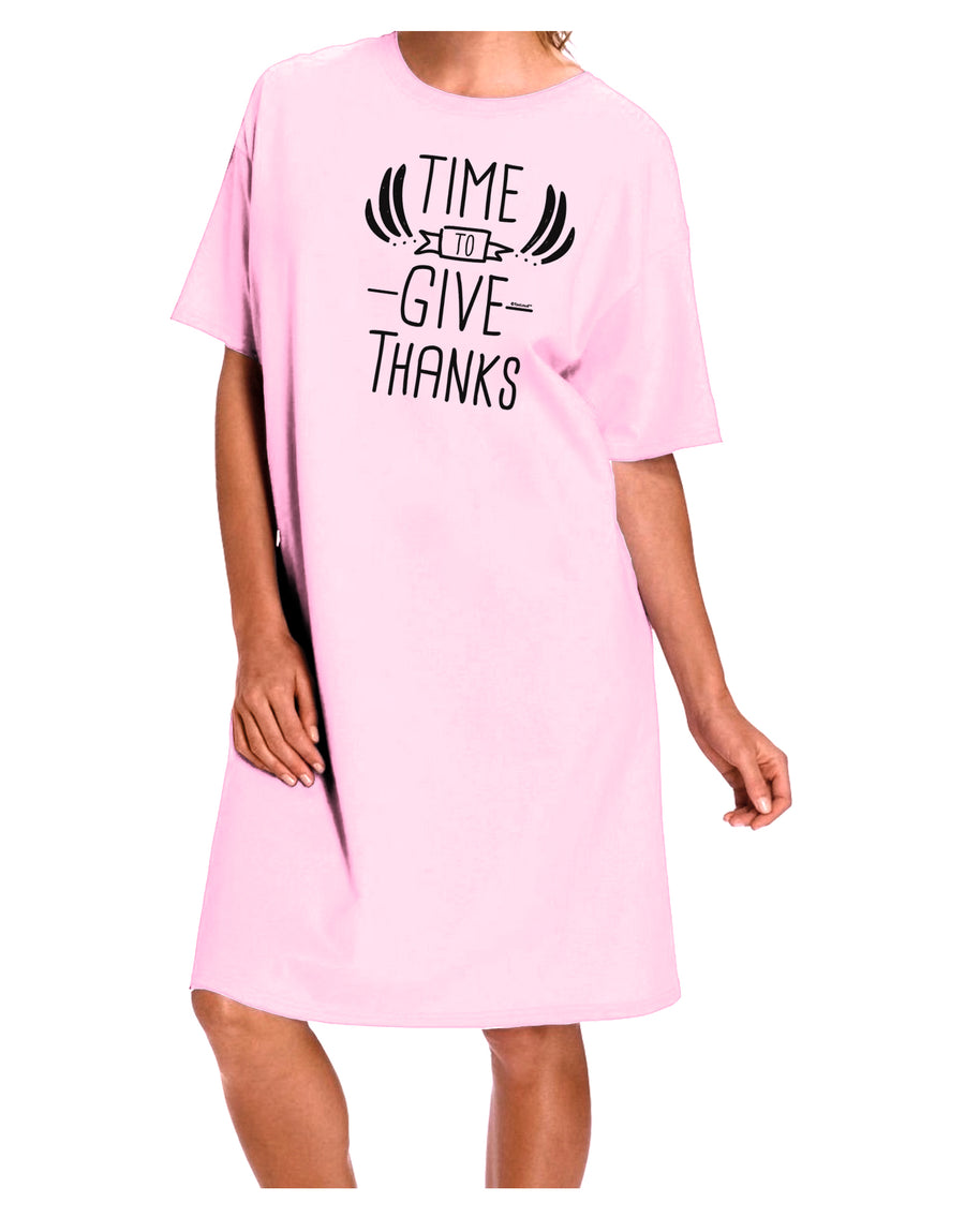 Time to Give Thanks Adult Night Shirt Dress Red One Size Tooloud
