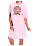 Planet Jupiter Earth Text Adult Wear Around Night Shirt and Dress