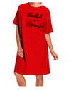 Thankful for you Adult Night Shirt Dress Red One Size Tooloud