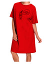 I'm a Little Chilli Adult Night Shirt Dress Red One Size Tooloud