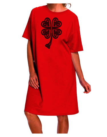 3D Style Celtic Knot 4 Leaf Clover Adult Wear Around Night Shirt and Dress
