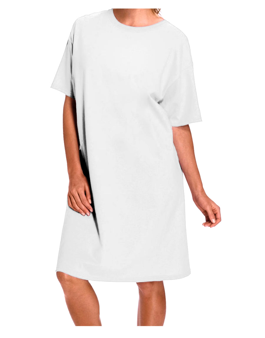 Custom Personalized Image and Text Night Shirt Dress