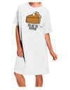 You are the PUMPKIN Adult Night Shirt Dress White One Size Tooloud
