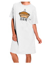 To My Pie Adult Night Shirt Dress White One Size Tooloud