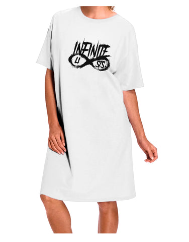 Infinite Lists Adult Night Shirt Dress - White - One Size by TooLoud
