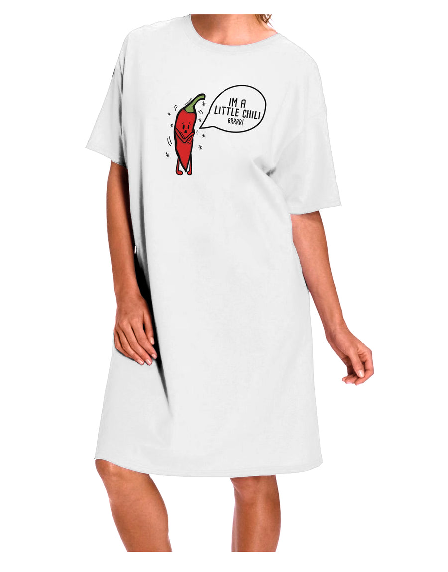 I'm a Little Chilli Adult Night Shirt Dress White One Size Tooloud