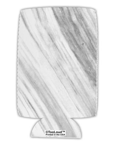 White Marble Pattern Collapsible Neoprene Tall Can Insulator All Over Print by TooLoud