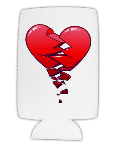 Crumbling Broken Heart Collapsible Neoprene Tall Can Insulator by TooLoud