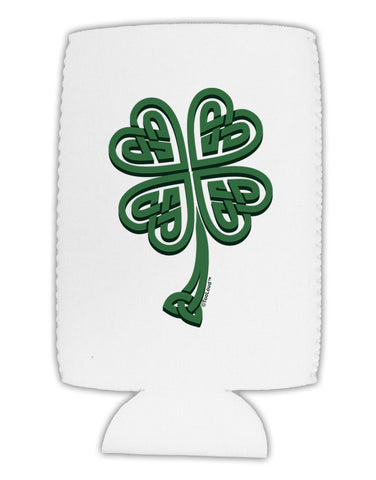 3D Style Celtic Knot 4 Leaf Clover Collapsible Neoprene Tall Can Insulator