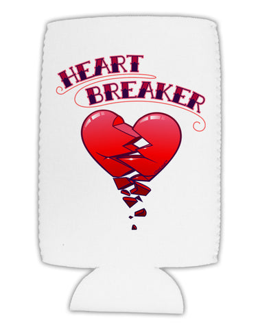 Heart Breaker Cute Collapsible Neoprene Tall Can Insulator by TooLoud