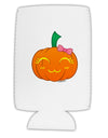 Kyu-T Face Pumpkin Collapsible Neoprene Tall Can Insulator by TooLoud