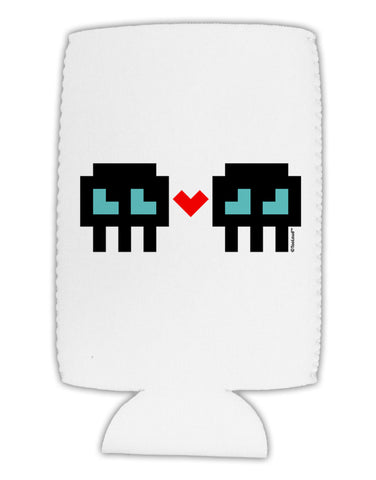 8-Bit Skull Love - Boy and Boy Collapsible Neoprene Tall Can Insulator