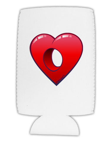 Hole Heartedly Broken Heart Collapsible Neoprene Tall Can Insulator by TooLoud