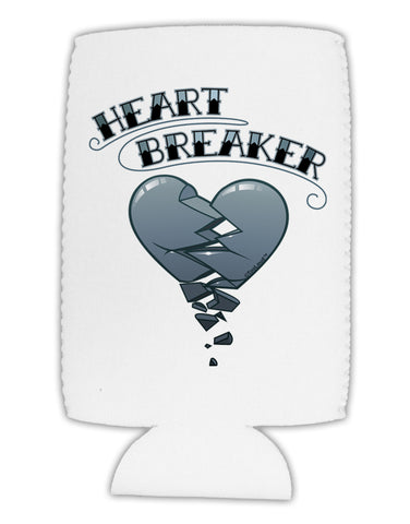 Heart Breaker Manly Collapsible Neoprene Tall Can Insulator by TooLoud