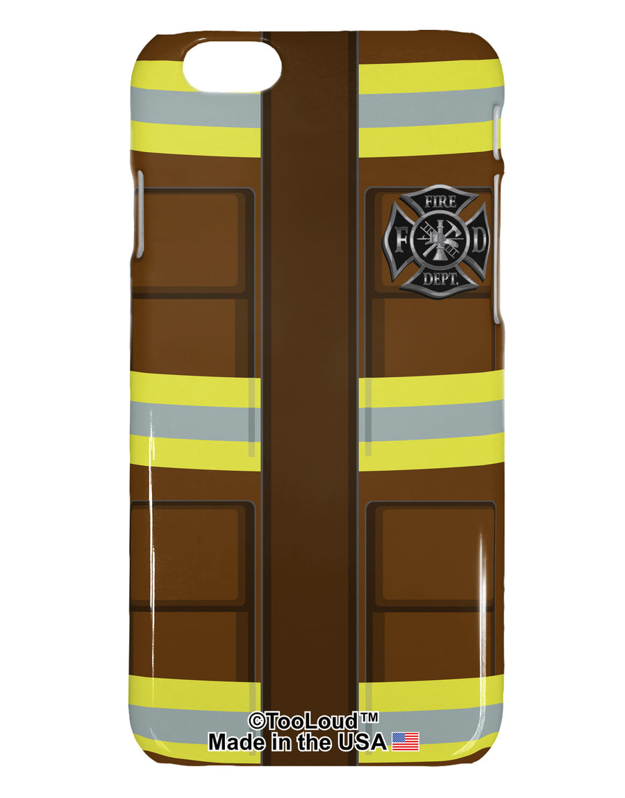 Firefighter Brown AOP iPhone 6 Plastic Case All Over Print