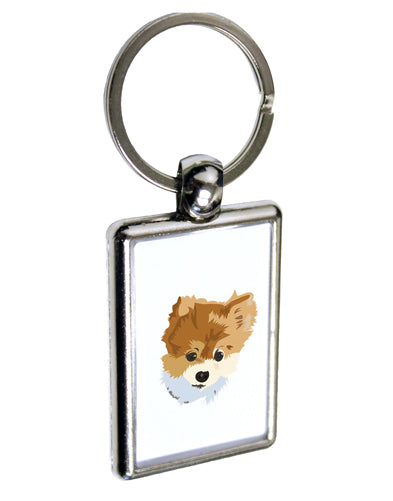 Custom Pet Art Keychain Key Ring by TooLoud