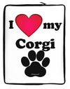 I Heart My Corgi Neoprene laptop Sleeve 10 x 14 inch Portrait by TooLoud