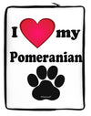 I Heart My Pomeranian Neoprene laptop Sleeve 10 x 14 inch Portrait by TooLoud